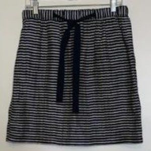 Loft Linen Blend Horizontal Striped Skirt